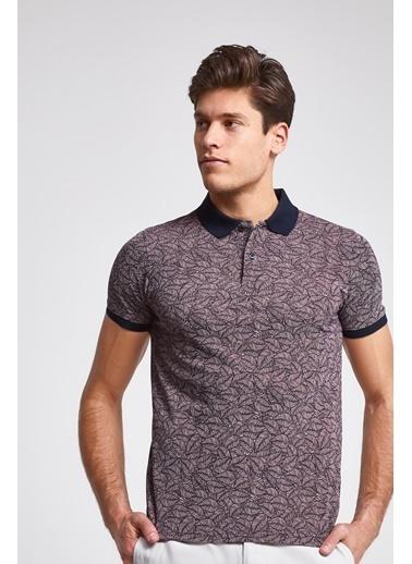 D'S Damat Slim Fit Baskılı T-Shirt Pembe